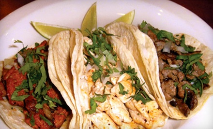 Mexican Cuisine at Pancho Villa Mexican Restaurant (Up to 51% Off). Two Options Available.