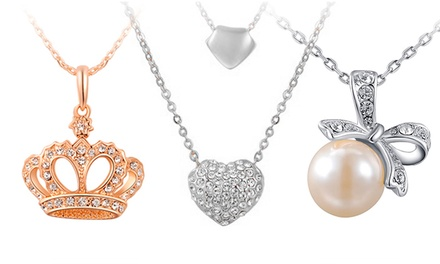 Colar Lolita banhado a ouro com pingente e diamantes sintéticos desde 7,99€