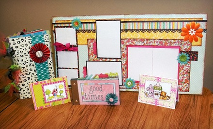 Scrapbook Classes and Supplies at Busy Scrappin' (Up to 53% Off). Two Options Available.