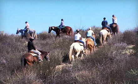 $129 for a 75-Minute Guided Horseback Trail Ride for Two with Wine Tastings from Green Acres Ranch ($300 Value)
