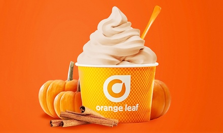 $12 for Four Groupons, Each Good for $6 Worth of Frozen Yogurt at Orange Leaf - Mansfield Rd ($24 Value)