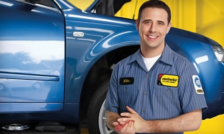 Synthetic-Blend Oil Change, Two- or Four-Wheel Alignment, or AC Recharge at Meineke in Baytown (Up to 70% Value)