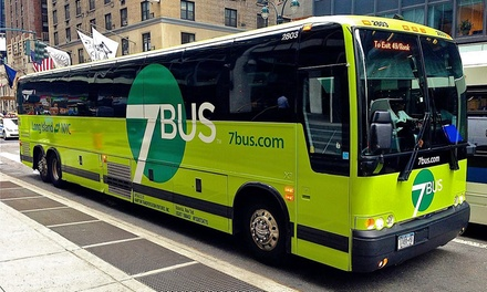 Coach Service from NYC or Long Island for One, Two, or Four from 7Bus (Up to 38% Off)