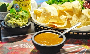 Mexican Dinner Cuisine For 2 Or More, Valid Monday–thursday Or Any Day At Guajillo