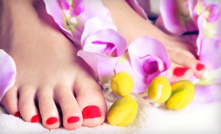 Regular Mani-Pedi or Gel Manicure and Spa Pedicure from Tawanda Johnson-Gray at Chateau Cheveux (Up to 55% Off)