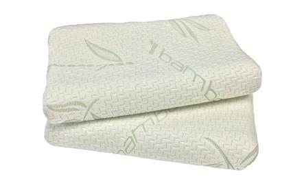 2 Standard Contour Memory Foam Pillows