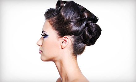 Cut with Condition or Color, or Brides Trial Hair and Makeup with Optional Day-of Styling at Salon 121 (Up to 63% Off)