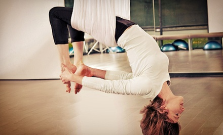 5 or 10 Aerial Yoga Classes at Andrea Powers Studio (Up to 71% Off)