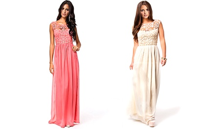Jade and Juliet Cheryl Dress in Ivory or Rose