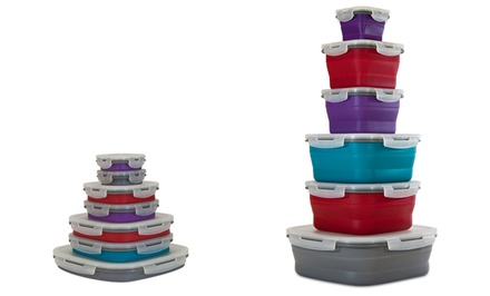 Smart Planet 14-Piece Collapsible Silicone Food Storage Set