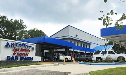 $16 for a Hot Wax 'N Shine and Wash at Anthony's Full Service & Express Car Wash ($30 Value)