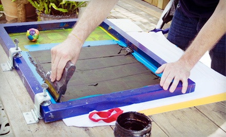 One-Hour Screenprint Class for One or Two, or Two-Hour Screenprint Class for One at Grow Your Own Media (Up to 57% Off)