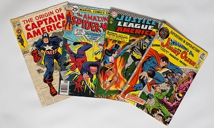 $39 for 50–75 Classic Comic Books and 100 Vintage Baseball Cards from Comic Book Headquarters ($val Value)