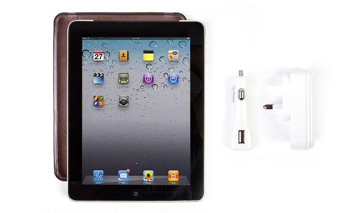 Groupon Goods Global GmbH: Apple iPad 64GB: Grade A Refurbished With Wifi and Cellular Plus Case, USB and Charger from £149.99 With Free Delivery