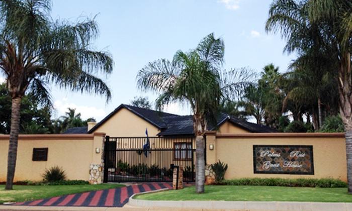 Joelene Khumalo - Merchandising (ZA): B&B Accommodation for Two at Palms Rest Guest House