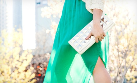 $25 for $50 Worth of Designer Clothing, Jewelry, and Accessories at Mary and Martha&#x27;s Exceedingly Chic Boutique