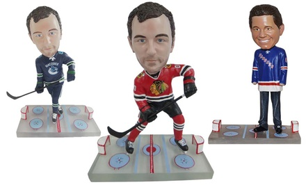 groupon daily deal - Custom MLB, NBA, or NHL Bobblehead from AllBobbleHeads.com