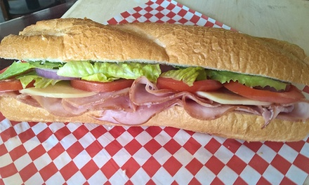 $16 for Two Sub Sandwiches, Two Drinks. and Two Bags of Chips ($24 Value)