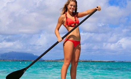 Standup-Paddleboard Rental from Live Adventure (50% Off). Three Options Available.