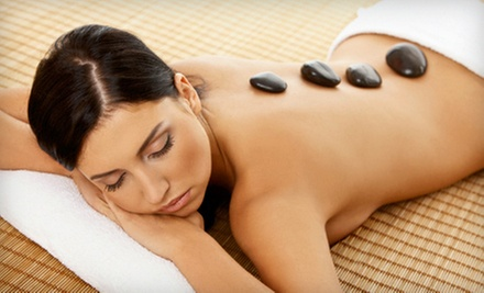 $49 for a One-Hour Hot-Stone Massage at Andrea&#x27;s Organic Hair Studio &amp; Day Spa ($130 Value)