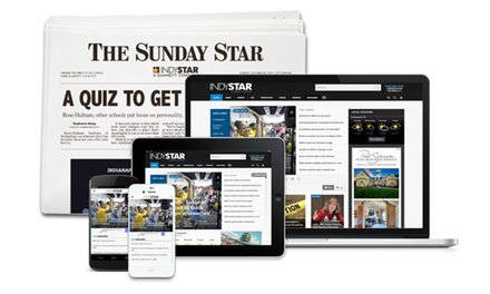 26- or 52-Week Full Access Subscription with Sunday and Thursday Delivery of Indianapolis Star (Up to 81% Off)