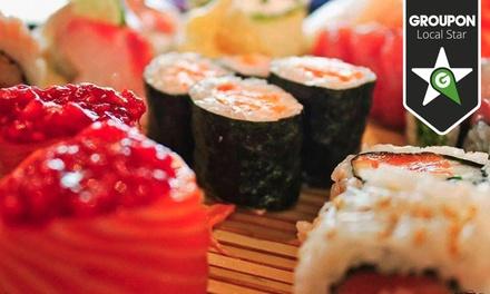Kaikou — Baixa: menu de sushi para duas pessoas com entradas, freestyle de sushi e welcome drinks por 29€