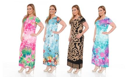 Women's Plus Size Printed Maxi Dresses