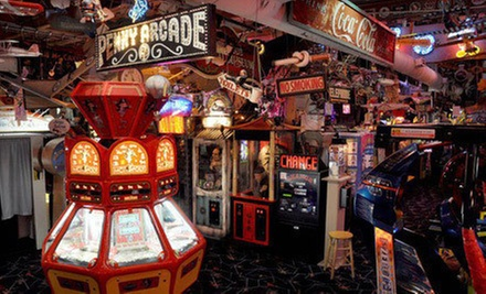 Arcade Outing for 2 or 4 or Party for 10 at Marvin's Marvelous Mechanical Museum (Up to 52% Off)