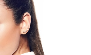 """14k Gold-plated """"aires"""" Ear Climber"""