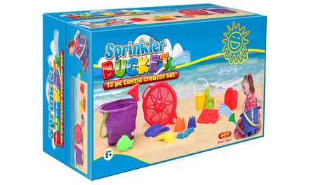 Sprinkler Bucket 12-Piece Castle Creator Set