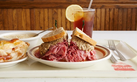 Deli Sandwiches or Entrees Dinner for Two or Four at Manny's Cafeteria and Delicatessen (Up to 45% Off)