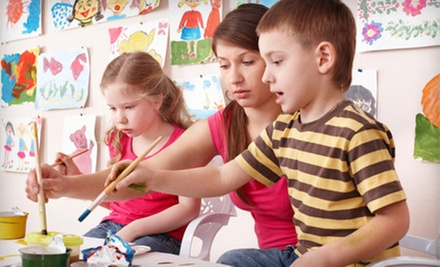 90-Minute Introductory Kids' Acrylic-Painting Class for One or Two at Café Elie (Up to 53% Off)