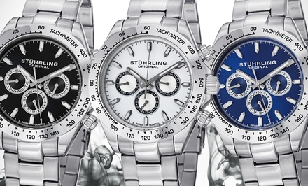 Stührling Original Men's Swiss Multifunction Robust Bracelet Watch