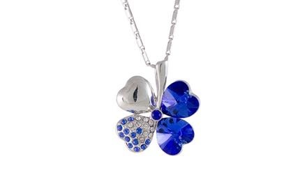 Colar com pendente em forma de trevo da sorte azul por 25,95€