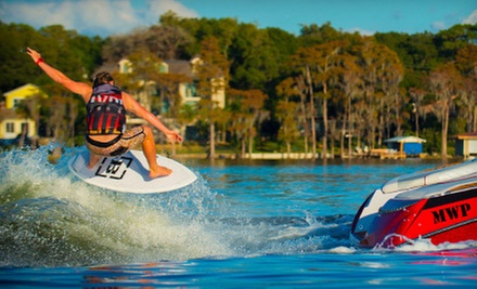 $75 for a Private One-Hour Wakeboarding Lesson for Up to Two from Wakeboard Clinic ($150 Value)