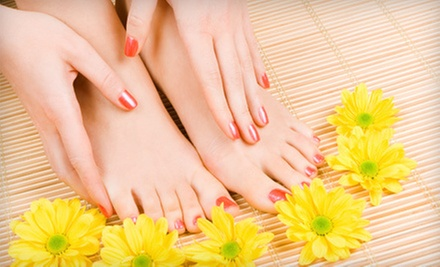 One or Two Mani-Pedis, or One Pedicure with a Foot Massage at Relaxology Nail Spa (Up to 56% Off)