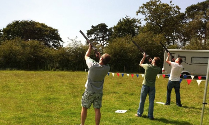 Clayzar - Macclesfield: Laser Clay Pigeon Shooting For One (£16) or Two (£29) at Clayzar (Up to 70% Off)