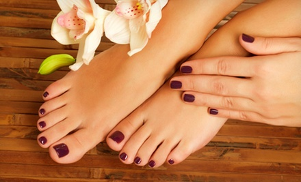 One or Three Mani-Pedis at Amazing Grace Beauty Salon (Up to 56% Off)