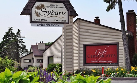 1-Night Stay for Two in a Classic Whirlpool Suite with Chocolate Strawberries at Sybaris Downers Grove in Chicagoland