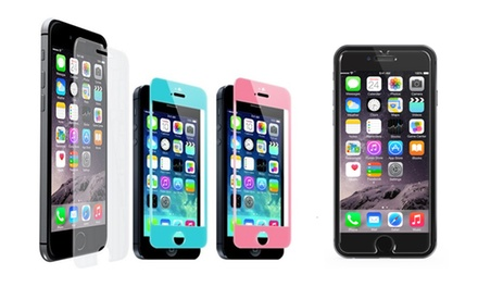 Shatter-Resistant Tempered-Glass Screen Protectors for iPhone 5/5s/5c, 6, or 6 Plus