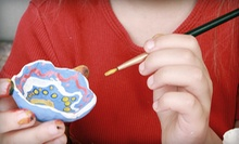 $15 for $30 Worth of Paint-Your-Own Pottery or $109 for Two-Hour Pajama Party for Up to 8 Kids at Daydreams Ceramic Caf