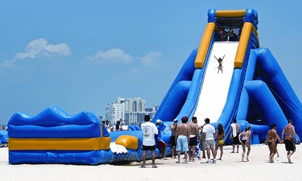 $12 for Kids' All-Day Access to the Wet and Dry Zones for One at Inflatable World Waterpark  ($20 Value)