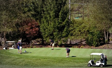 9- or 18-Hole Round of Golf with Cart for Two or Four at Rustic Hills Country Club (Up to 56% Off)