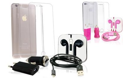 Pack de acessórios para iPhone 4/4S, 5/5S, 6 ou 6 Plus desde 8,90 €