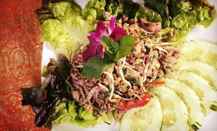 Thai Dinner with Wine for Two or Four at Aroy Thai Fusion (Up to 55% Off)