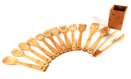Core Bamboo Eco-Friendly 14-Piece Utensil Set