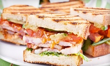 $14 for a Caf Meal for Two with Paninis, Soup, and Muffins at Travel Mug Cafe ($29.70 Value)