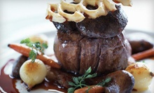 $59 for a Meal for Two with an Appetizer, Entrees, and Wine at JFK Grill Room at Kennedy's (Up to $135.85 Value)