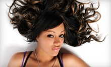 Haircuts and Hair-Extension Application at Royalty Salon (Up to 72% Off). Four Options Available.