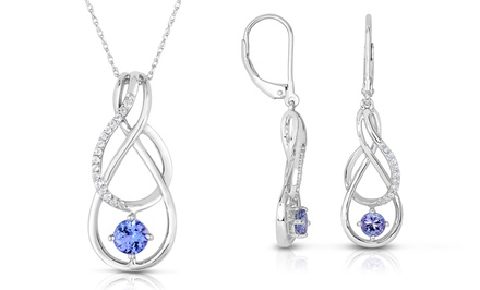 0.50 CTTW Tanzanite Earrings or 0.60 CTTW Tanzanite Pendant in Sterling Silver